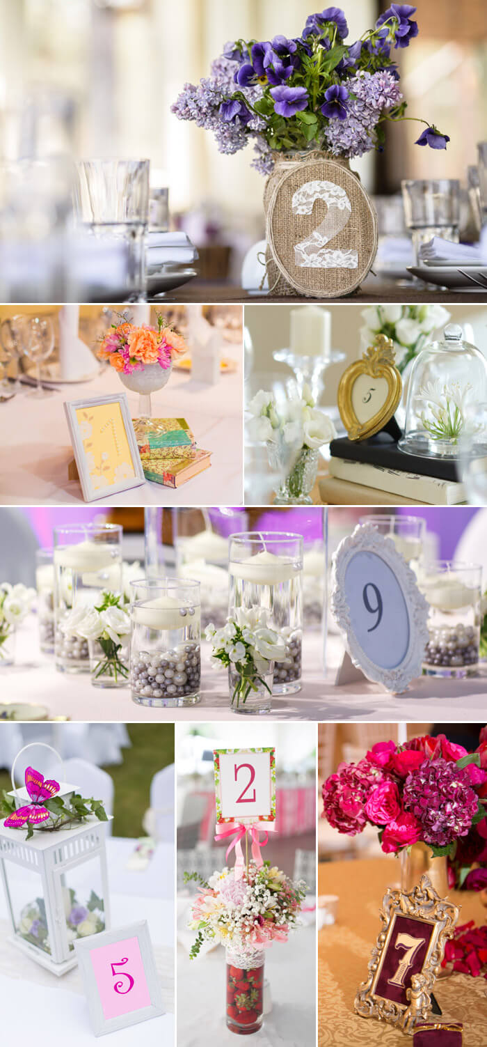 Tischnummern Zur Hochzeit Vintage Stil
