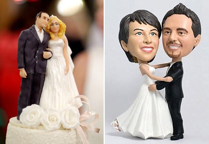 Tortenfiguren Brautpaar Bild