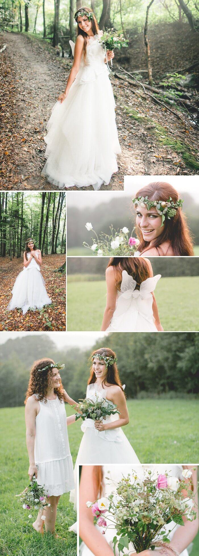 Waldfee im Brautlook