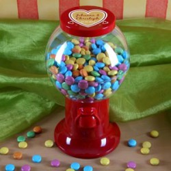 Geschenke zum Hochzeitstag: Bonbonspender mit Namen