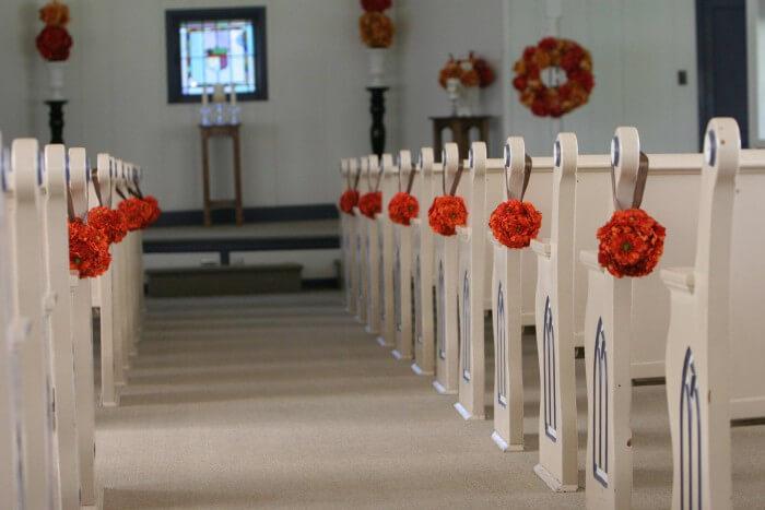 Blumen Hochzeit Kirche