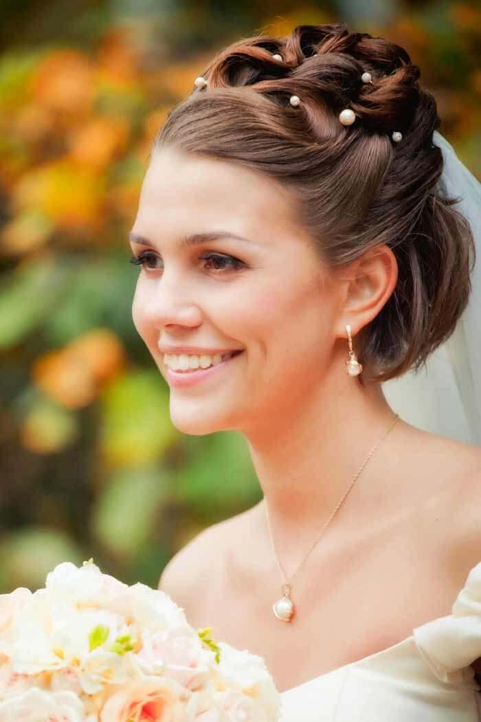 Brautfrisur kurz