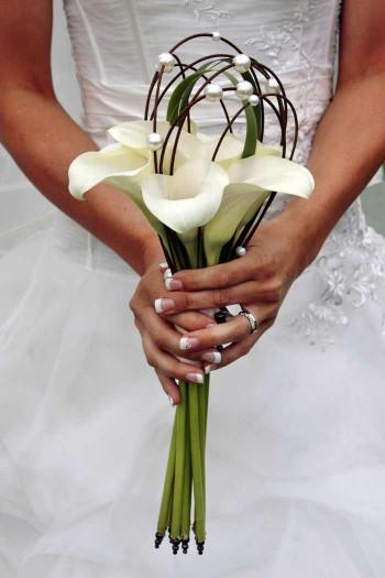 Brautstrauß Calla weiß
