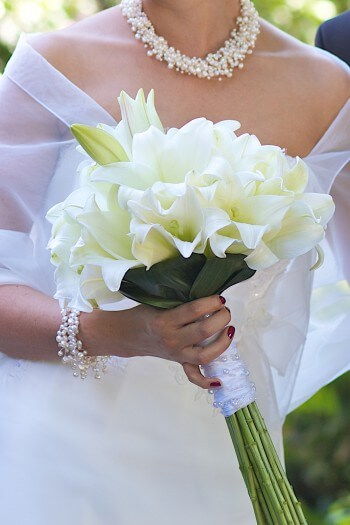 Brautstrauß Lilien weiß