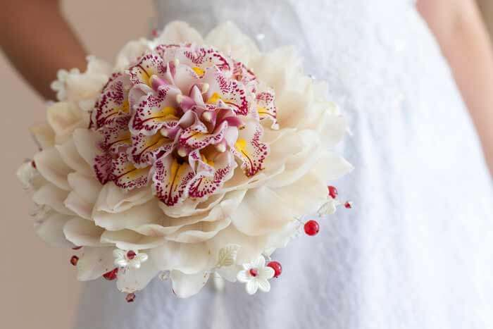 Brautstrauß mit Orchideen