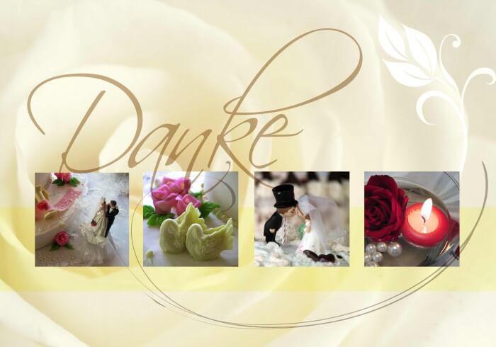 Dankeskarten nach der Hochzeit