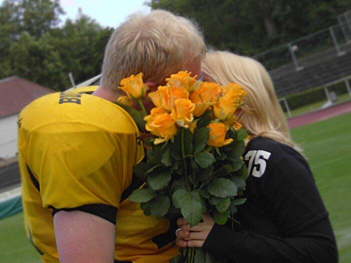 Football Verlobungsgeschichte