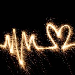 Herz Feuerwerk Heiratsantrag