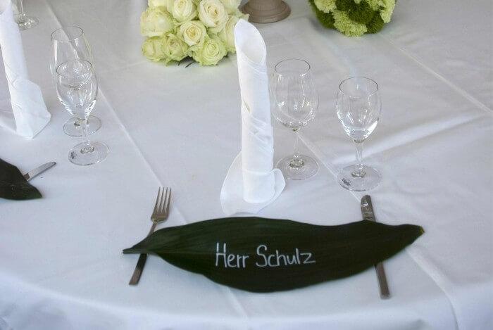 Hochzeit Namensschilder