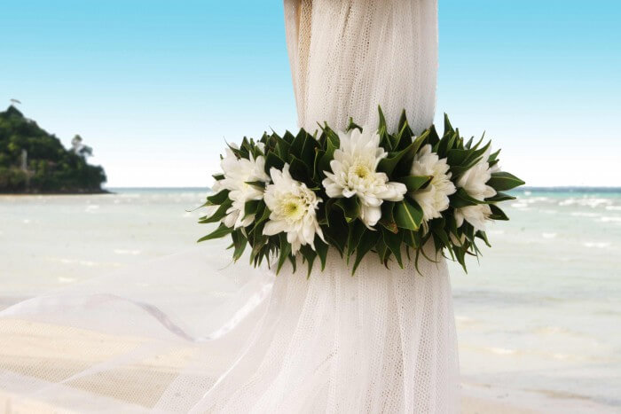 Hochzeit Strand Blumen