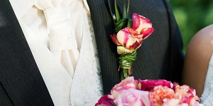 Hochzeitsanstecker modern