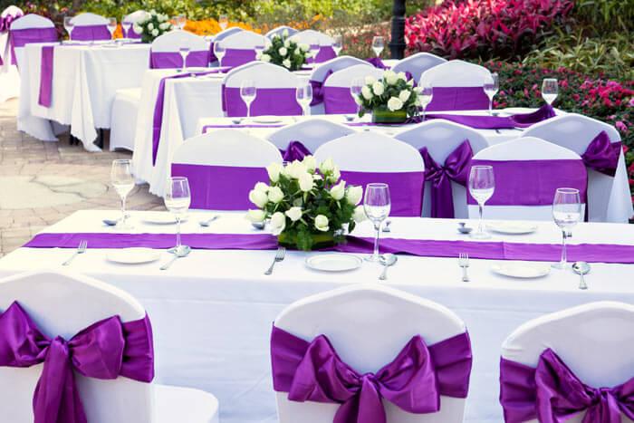 Hochzeitsdeko lila