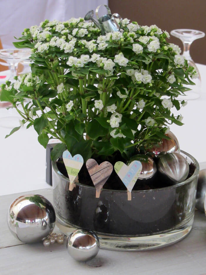 Shop Hochzeitsdekoration Tischdeko Kerzenglas Quot Rosen Quot Mit Bil ...