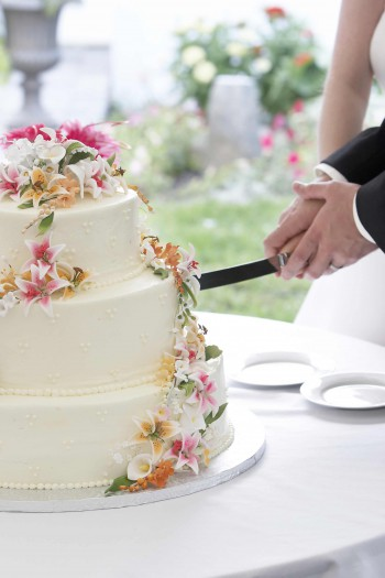 Hochzeitstorte Blumenranke