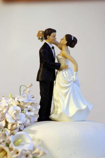 Hochzeitstorte Brautpaar Marzipan