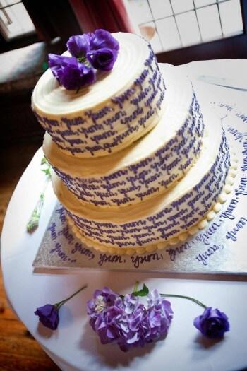 Hochzeitstorte mit Text