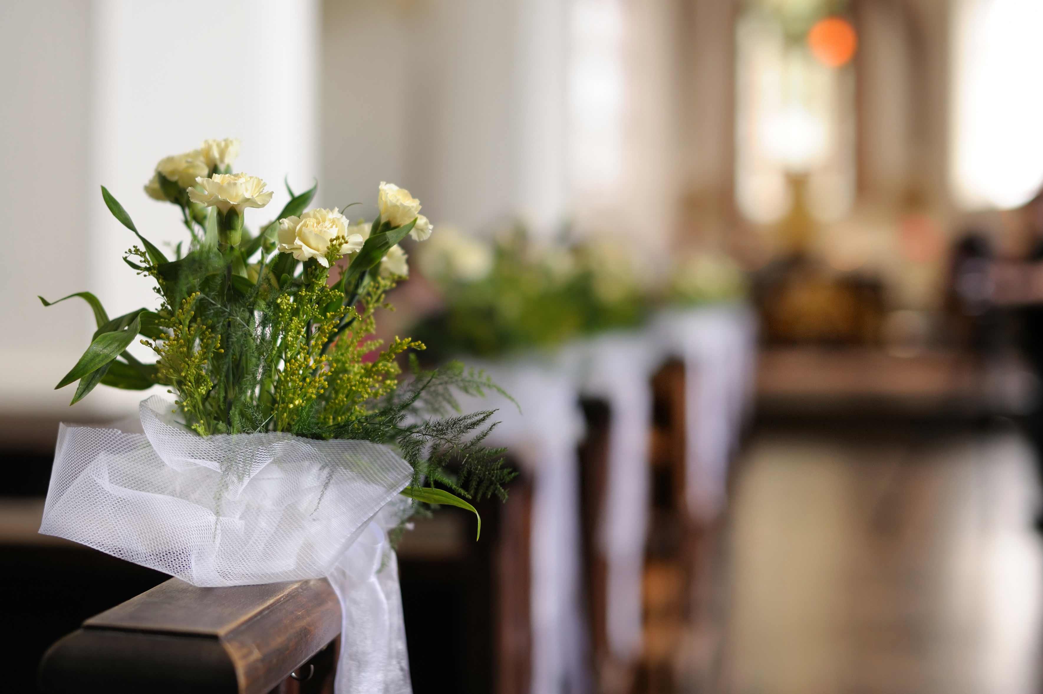 Kirchenbank Deko Bildergalerie Hochzeitsportal24
