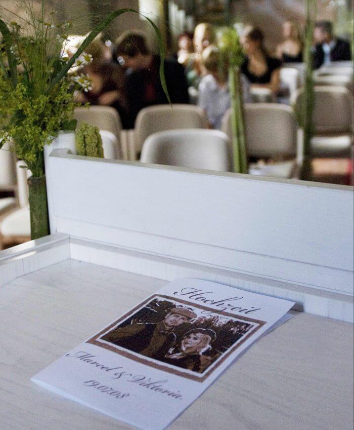Kirchenheft Trauung Hochzeit