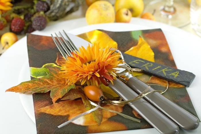 Tischkarten Herbst