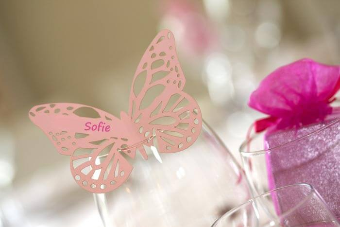 Tischkarten Schmetterling
