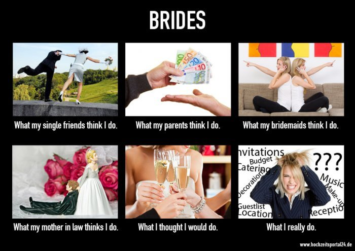 What people think I do Bride