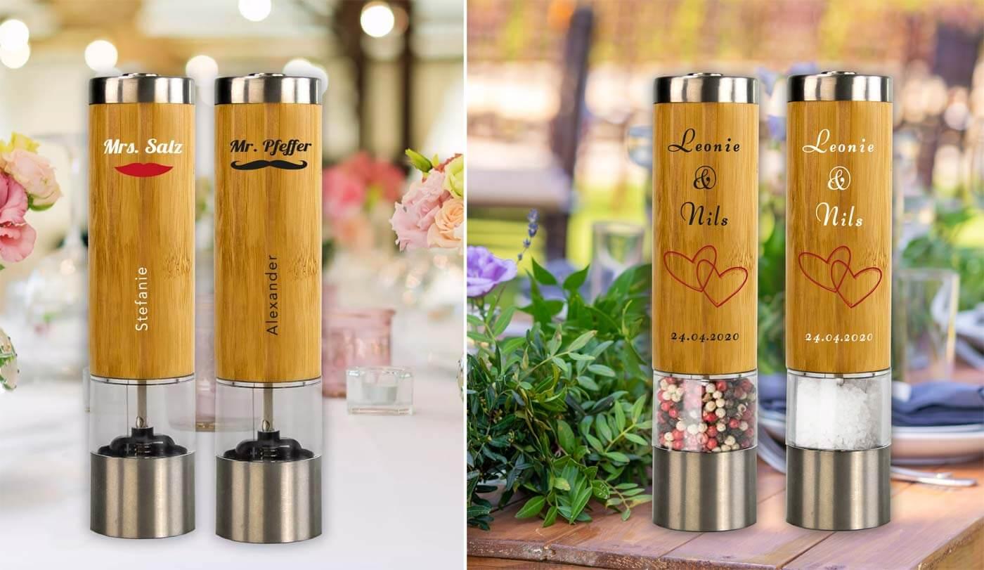 Hochzeitsgeschenk Salz und Pfeffer