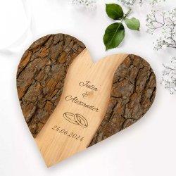 Personalisierte Hochzeitsgeschenke Holz