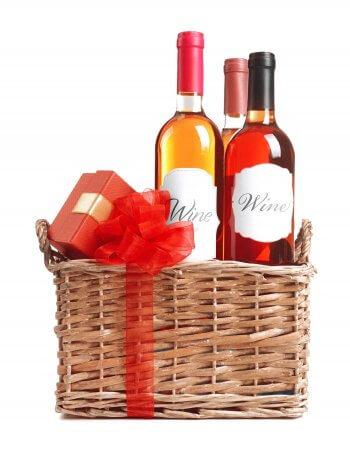 Hochzeit Geschenkkorb Wein