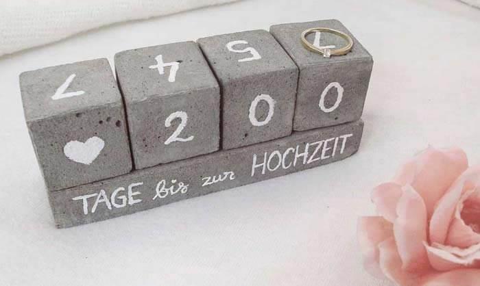 Hochzeits Countdown selber machen
