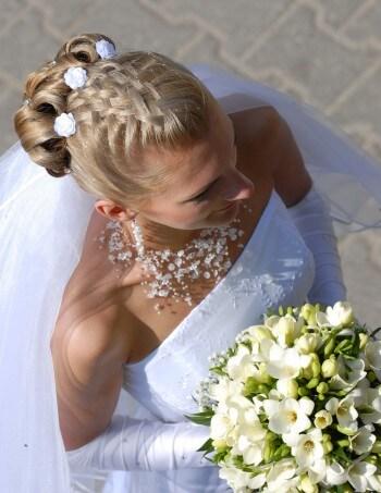 Brautfrisur geflochten