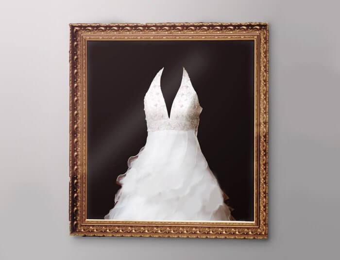Brautkleid einrahmen