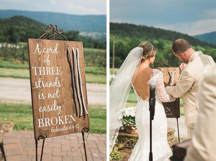 christliche Bibelvers Hochzeit die dreiteilige Schnur