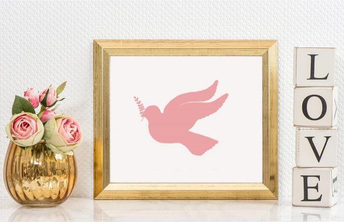 christliche Symbole Taube
