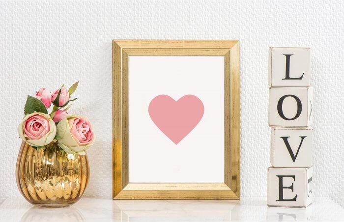 christliches Symbol Herz