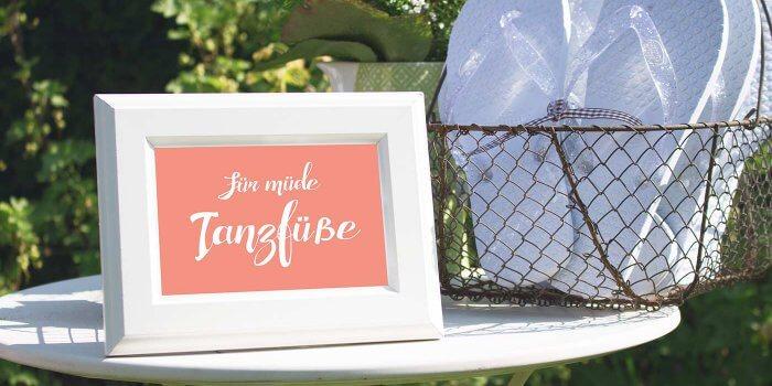 Flip Flops Hochzeitsgäste