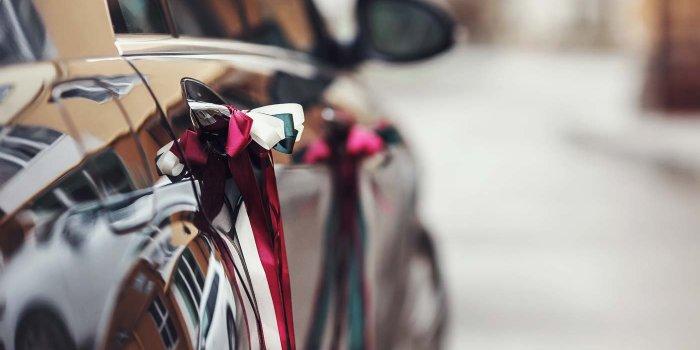 Autoschleifen Hochzeit basteln