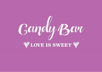 Candybar Schild lila