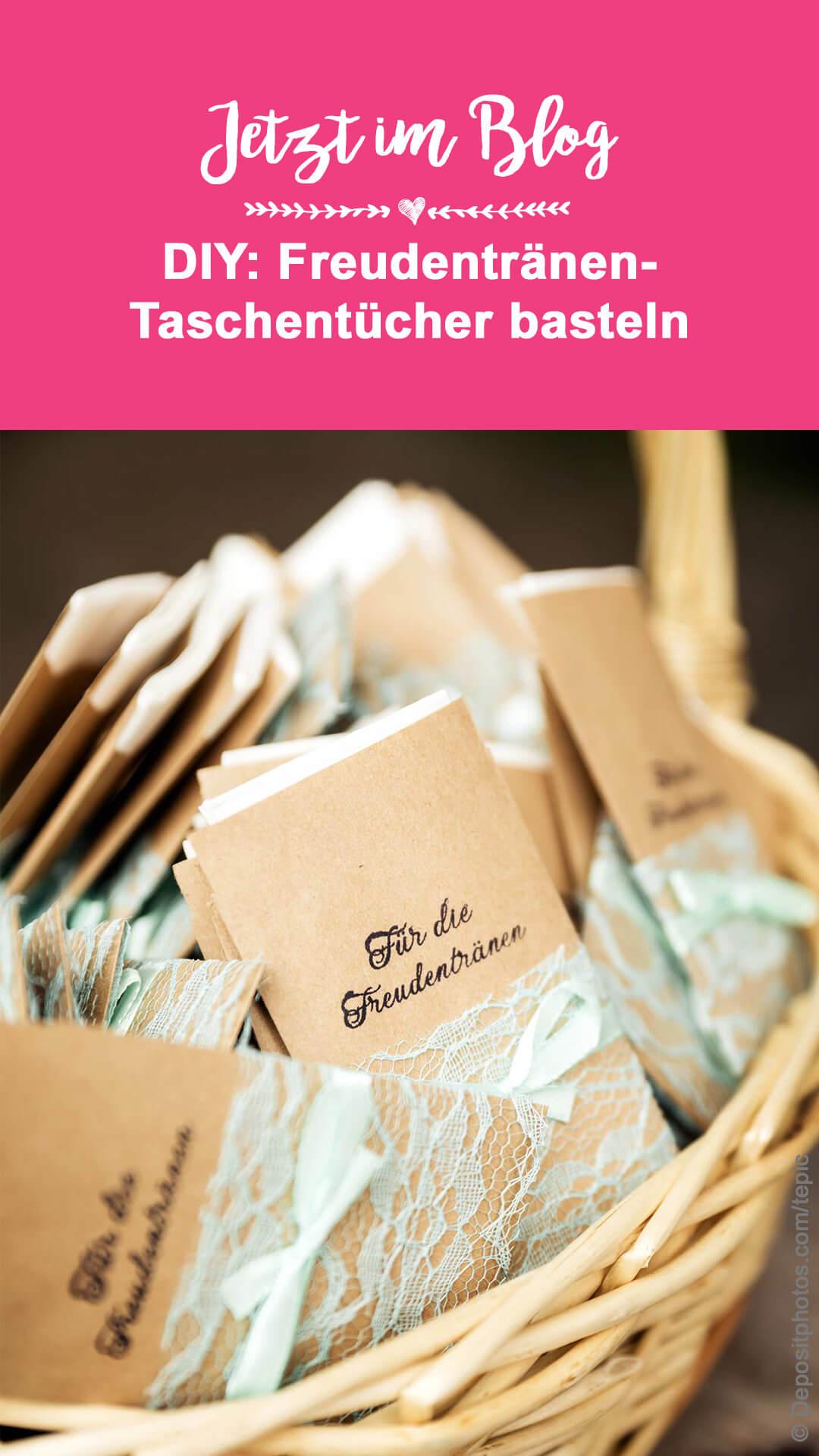 DIY Freudentränen Taschentücher