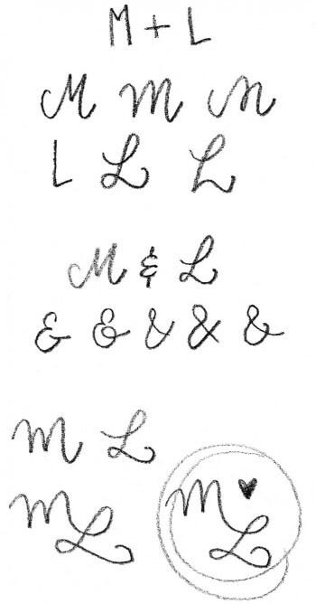 Monogramm Skizzen