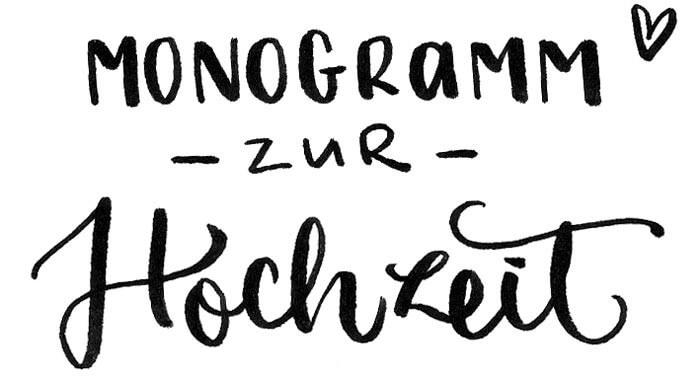 Monogramm zur Hochzeit