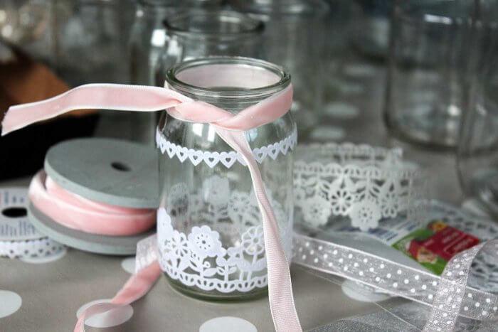 Marmeladengläser dekorieren