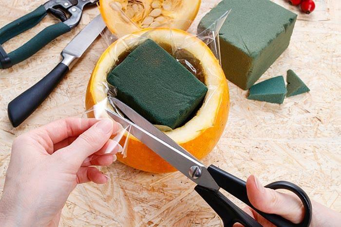 herbstliche tischdeko selber machen anleitung f r k rbis. Black Bedroom Furniture Sets. Home Design Ideas