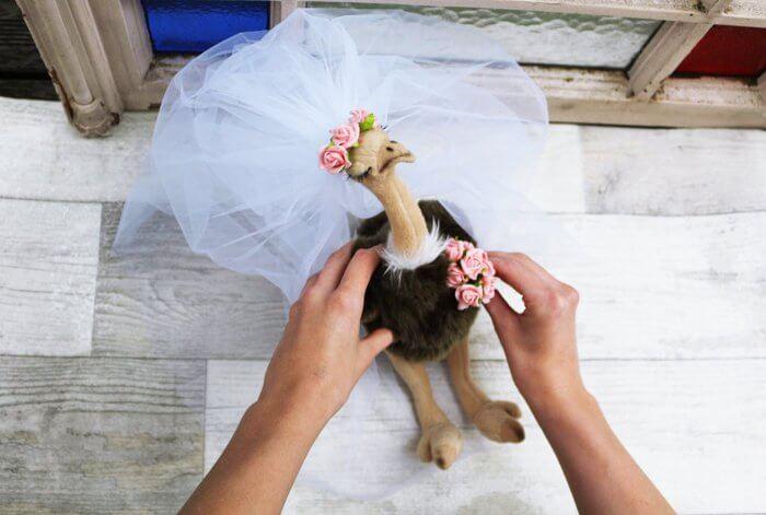 Brautstrauß Plüschtier