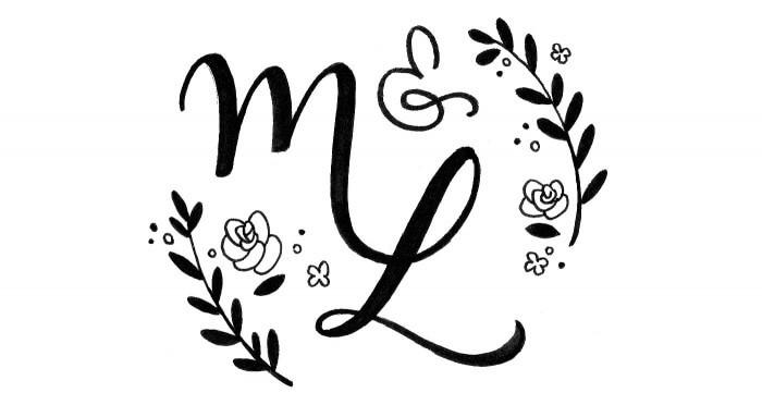 Hochzeitslogo Monogramm