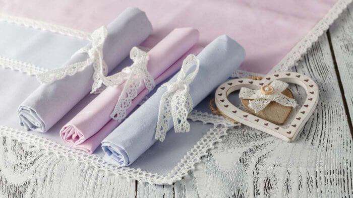 Servietten falten Hochzeit vintage