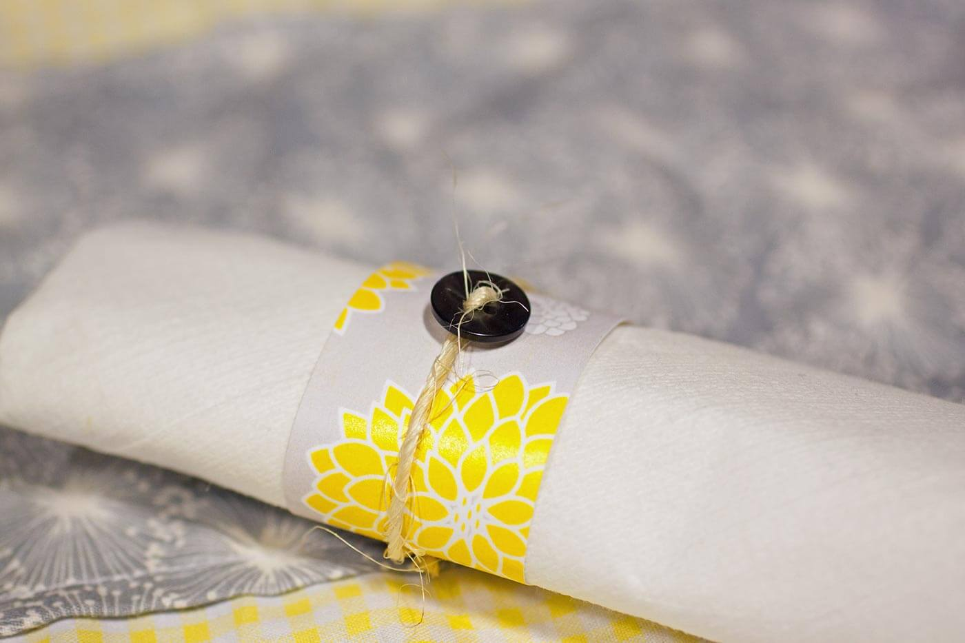 Serviettenringe Papier selber machen