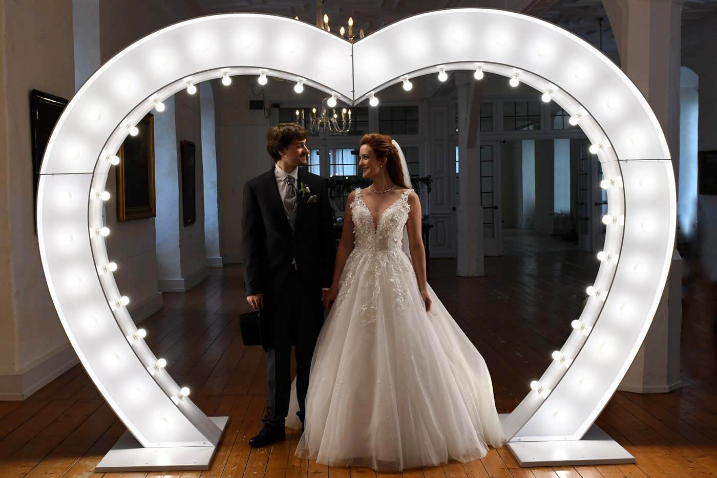 Leuchtherz Hochzeit