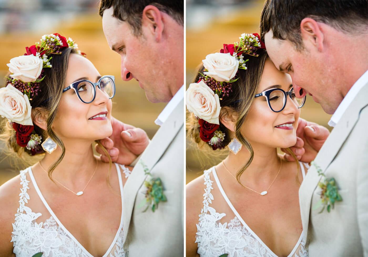 Braut mit Brille Frisur