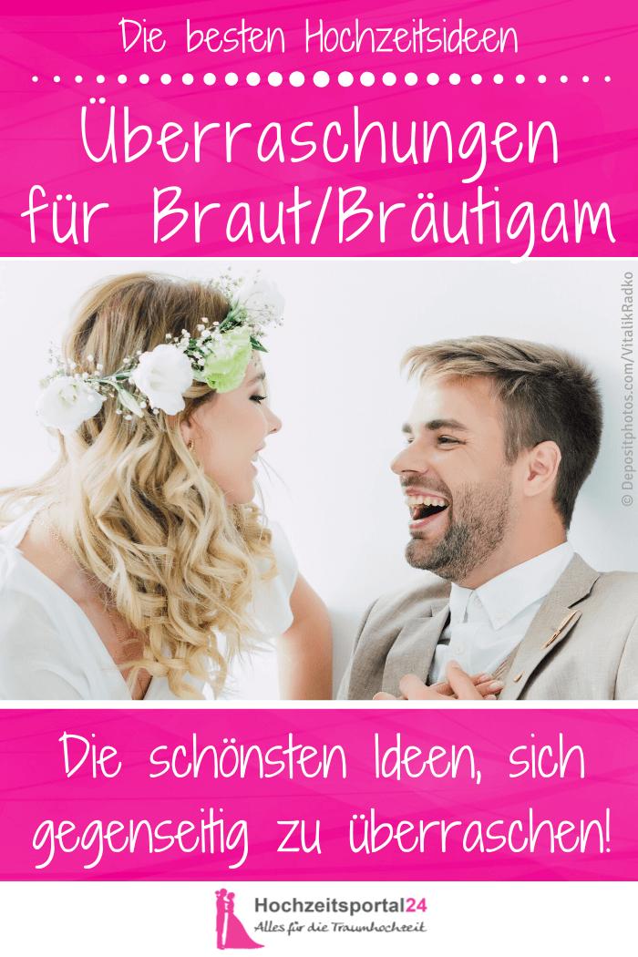 Hochzeitsüberraschung für die Braut vom Bräutigam