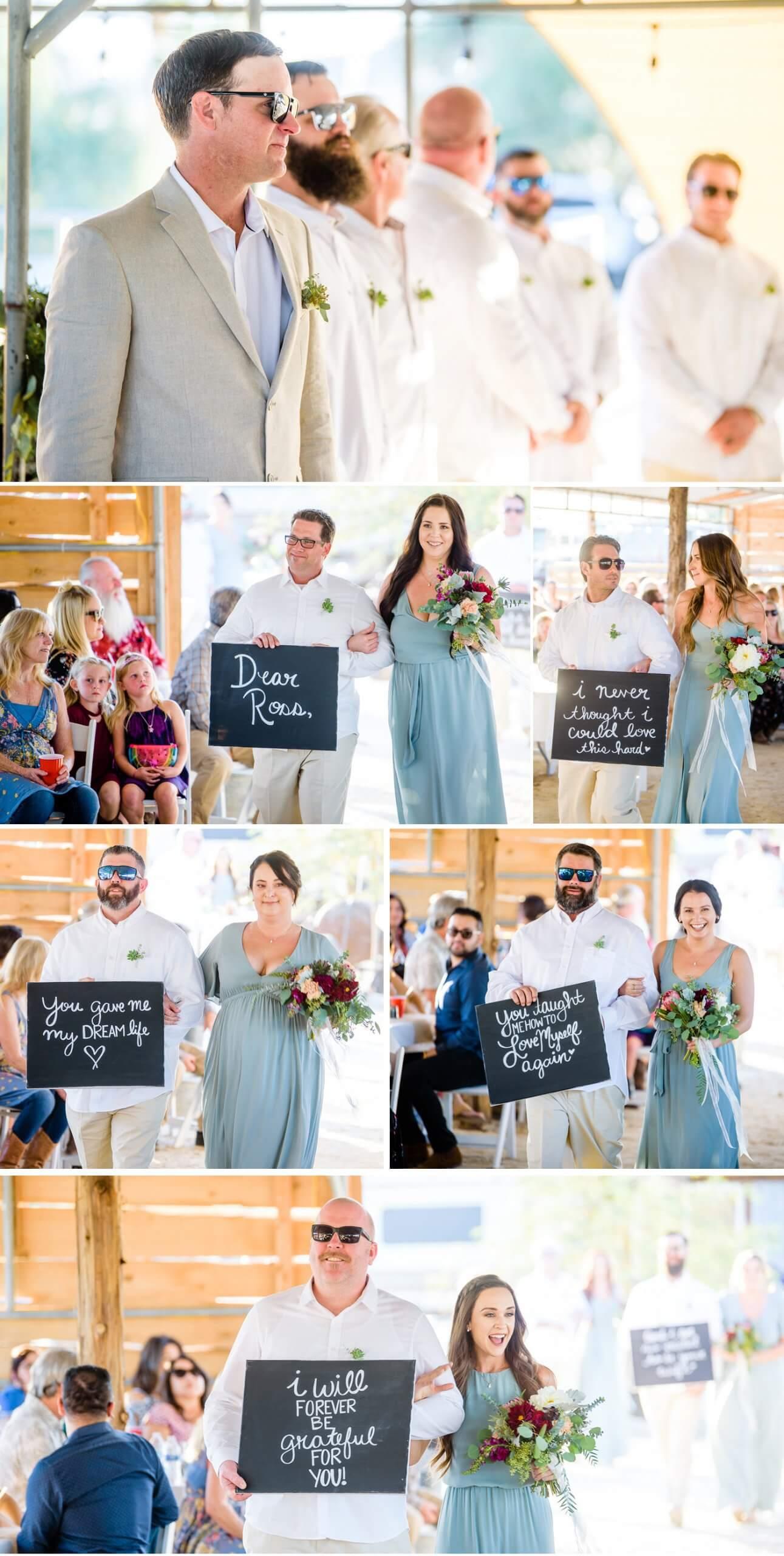 Überraschung für Bräutigam